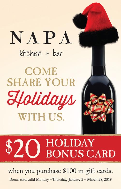 Napa Holiday Card Image
