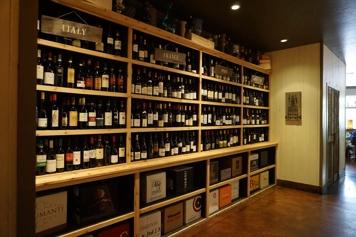 Napa Montgomery wine shelves