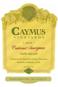 Caymus Vinyards Cabernet Sauvignon wine by Wagner Family Wine