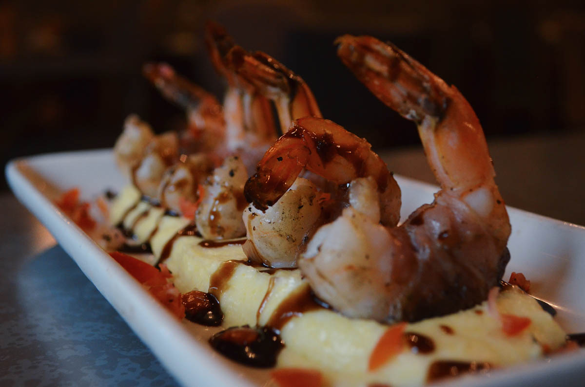 shrimp with garnish
